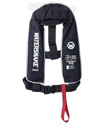 Watersnake Black Inflatable PFD Level 150/150N Manual Adult Life Jacket @ Otto's