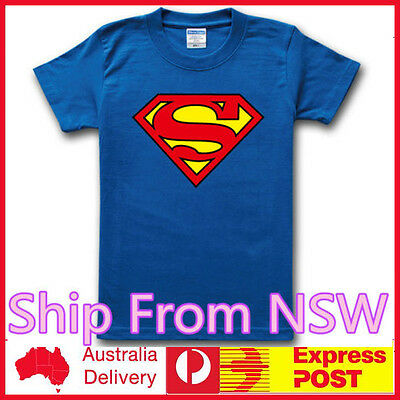 ShipFrom NSW Sheldon Cooper Superman DC Comic Classic Blue Tee T-shirt Kid Adult