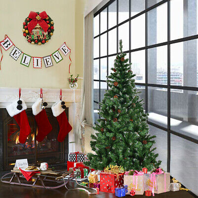 1.8M 6Ft Tall Christmas Tree With Stand Holiday Season Indoor Outdoor Decoration