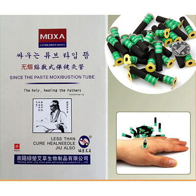 Mini Smokeless Moxa Stick Mini Stick-on Moxa Moxibustion Massage 180pcs