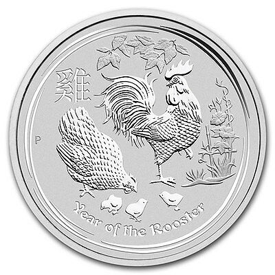 Piece argent Australie 1 dollar Lunar Coq 2017 1 once 1 oz silver coin Rooster