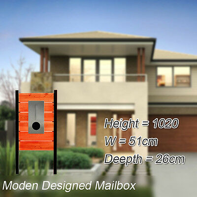 Timber Pillar Letterbox Stainless Letter box Steel Mailbox Moden House