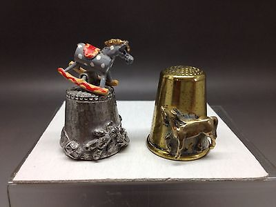 2 Horse Themed Thimbles