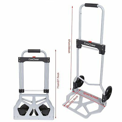 220lb Capacity Multi-Position Aluminium Folding Hand Truck Dolly Trolley Luggage