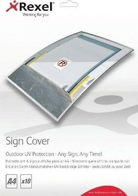Rexel Outdoor UV Sign Cover A4 Pack of 10 2104248