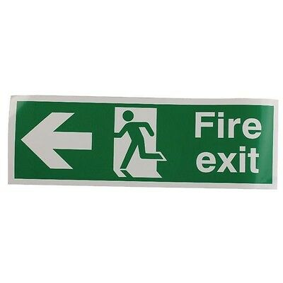 Signs and Labels Safety Sign Fire Exit Running Man Arrow Left 150x450mm E97A/S