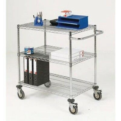 Mobile Trolley 3-Tier Chrome 373004