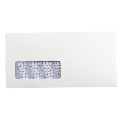 Q-Connect Envelope DL Window 100gsm Self Seal Recycled White Pk 500 KF3505