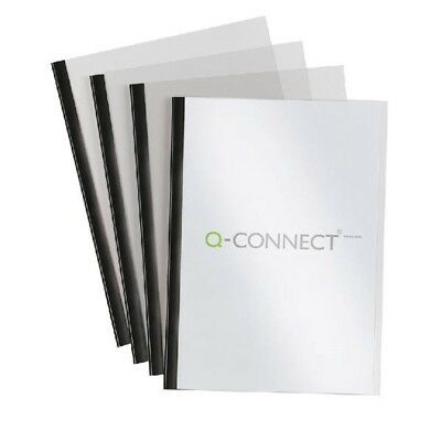 Q-Connect Black A4 5mm Slide Binder and Cover Set - 20 Pack