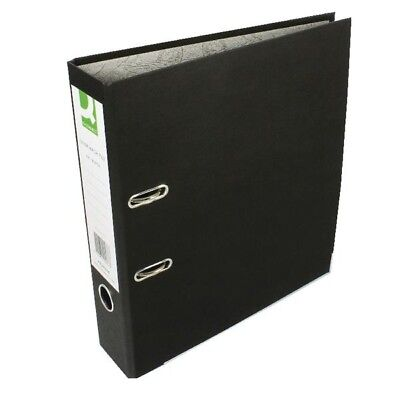 10 x Q-Connect Lever Arch Files - A4 - Paper Backed - Black - KF20038