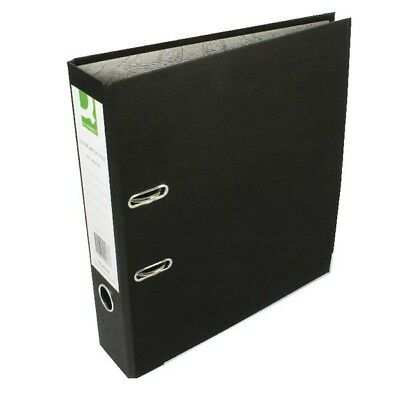 Q-Connect Lever Arch File A4 Paper-Backed Black Pack of 10