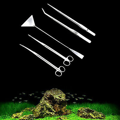 Aquarium Aquascaping Kit 5 Tools Used For Fresh Water Planting Water Plants