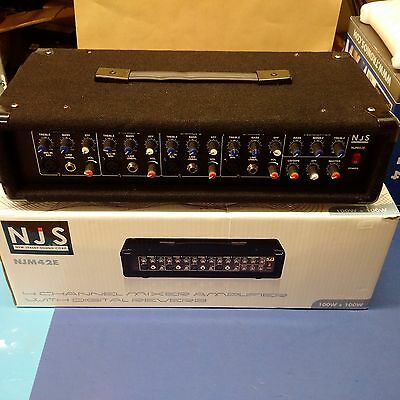 New Jersey Sound 100w 4 Channel Mixer / Amplifier NJM42E