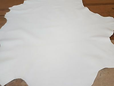 SOFT ITALIAN Lambskin hide Leather First Quality 8 sq ft  White