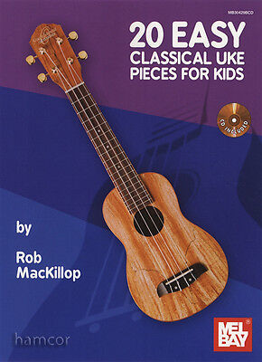 20 Easy Classical Uke Pieces for Kids Ukulele TAB Music Book/CD