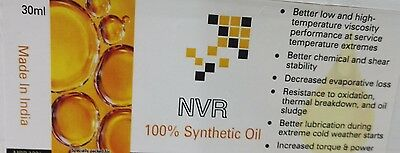 100% Synthetic Oil for lubricating wall wrist watches pocket watch  NVR branded