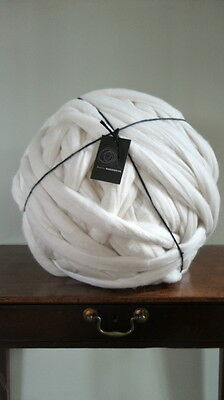 8kg 100% Cream Merino Wool Big Chunky Loop Extreme Arm Knitting Dyeing 19.5MU