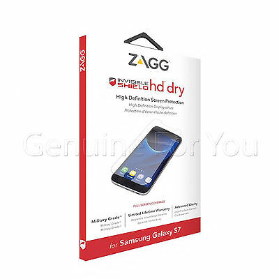 Genuine ZAGG Invisible Shield HD Dry Screen Protector for Samsung Galaxy S7 New