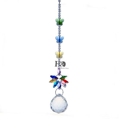 Sun catcher Hanging Crystal Rainbow Prism Feng Shui Wedding Decor Pendant Gift