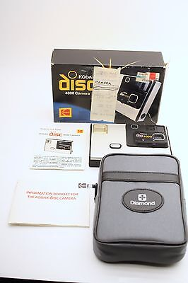 Kodak Disc 4000 Camera with Case and Original Box and Receipt UNUSED 1983 Mint