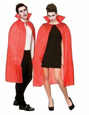"""Adult's Halloween Red Cape with Collar Fancy Dress Accessory 42"""""""