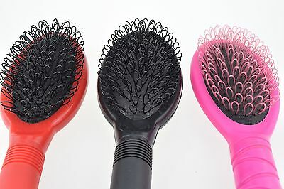 Hair Extension Loop Brush Silicone Micro Rings Beads Pink Black Red Stylish Nano