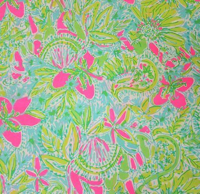 2016 Lilly Pulitzer Cotton Poplin Fabric Coconut Jungle 1 yard