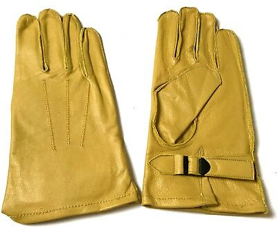 Wwii Us Army Airborne Paratrooper Dday Leather Jump Gloves-Large