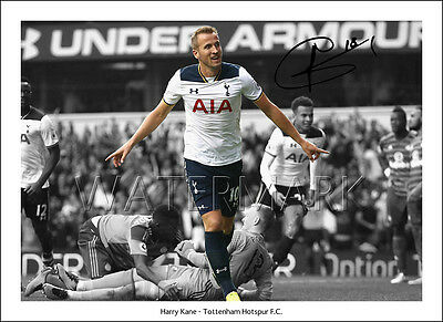 Harry Kane Signed Print Poster Photo Squad 2016 2017 Tottenham Hotspur Spurs