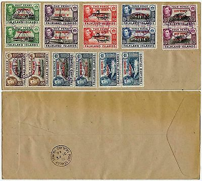 FALKLAND ISLANDS DEPENDENCIES SOUTH ORKNEYS 1944 SET in PAIRS VFU 1946