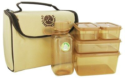 New Wave Enviro Products - Litter Free Lunch Box with Food Containers Brown