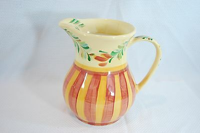 Southern Living At Home Gail Pittman Sienna Pitcher 48 Oz Yellow Floral  Striped