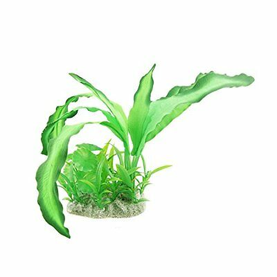 Sourcingmap Aquarium Fish Tank Aquascaping Manmade Water Plant Grass, Green