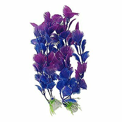 Sourcingmap Plastic Aquarium Underwater Plants Decor, 7.5-Inch, Blue/Purple