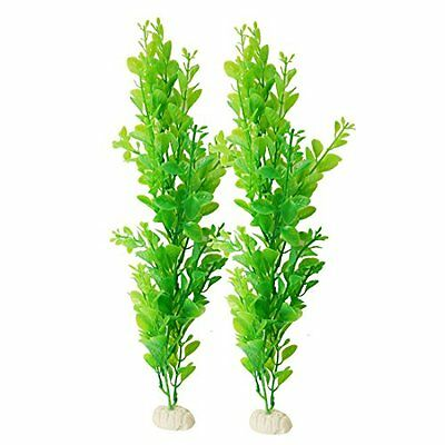 Sourcingmap Plastic Aquarium Fish Tank Decor Aquatic Plant, Green