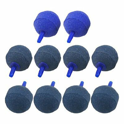 Sourcingmap Round Aquarium Fish Tank Mineral Release Bubbles Airstone, Blue, 10-