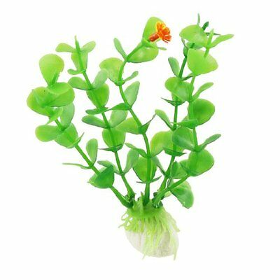 Sourcingmap Plastic Fish Tank Decor Plant/Grass, 4.5-inch, Pack of 10, Green