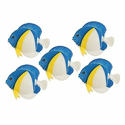 sourcingmap Aquarium Artificial Wiggly Tail Fishes, 5 Pieces, Blue