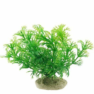 Sourcingmap Plastic Fish Tank Plant/Grass, 4-inch, Green