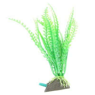 sourcingmap Waterdrop Shaped Aquarium Grasses/ Plants, 6.7-inch