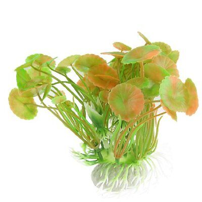 sourcingmap Plastic Aquarium Leaf/ Grass Decor, 16 cm, Orange/ Green
