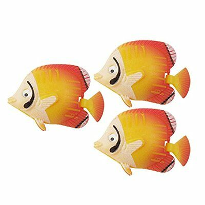 sourcingmap Plastic Aquarium Simulated Fish Decor, 3 Pieces
