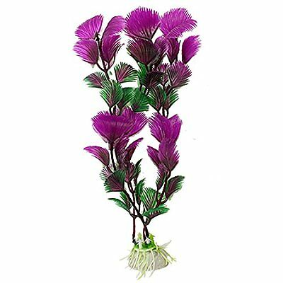 Sourcingmap Plastic Aquarium Decorative Grass Plants Ornament, Purple/Green, 10-