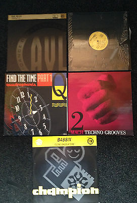 "5x 90s 12"" Dance/Rave/Techno Vinyl (Lot 7)"