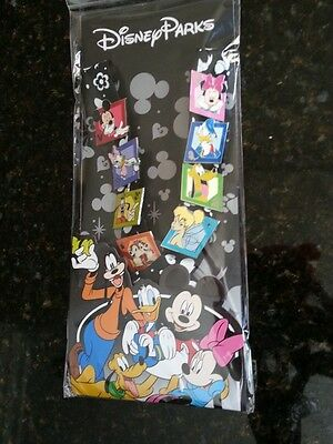 Disney Park New Disneyland Pin Set 8 Mickey Minnie Goofy Donal Pluto Tinker Bel