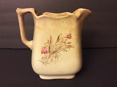 Antique 1800's Royal KT & K Knowles, Taylor and Knowles Ironstone Pitcher RARE!