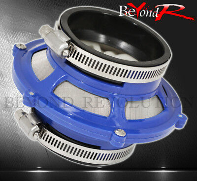 "For Vw 3"" 76Mm Inlet Performance Cold Air Intake Bypass Valve Filter Unit Blue"