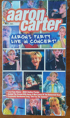 Aaron Carter - Aaron's Party: Live in Concert (VHS, 2001) FACTORY SEALED