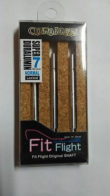 COSMO FIT SUPER DURALUMIN NORMAL LOCKED #7 SHAFTS 38.5mm  FOR FIT FLIGHTS ONLY
