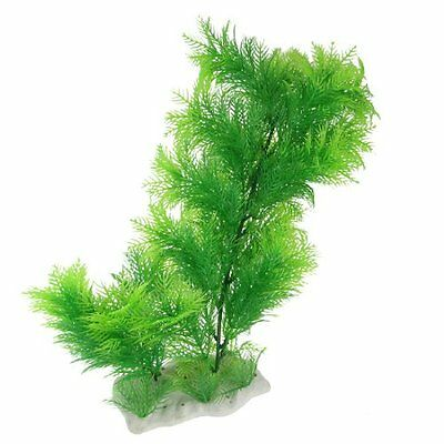 Sourcingmap Plastic Aquarium Ornament Plant/Grass, 14.9-inch, Green